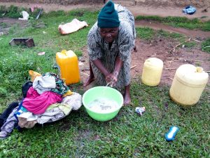 The Water Project:  Using Water To Wash Clothes