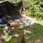 The Water Project: Mukhuyu Community, Kwakhalakayi Spring -  Trash Piles