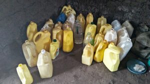 The Water Project:  Water Containers In Kitchen