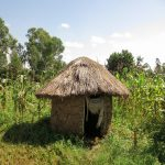 The Water Project: Bukhaywa Community, Asumani Spring -  Latrine At Farm