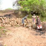 The Water Project: Kathamba Ngii Community A -  Already Collecting Stones
