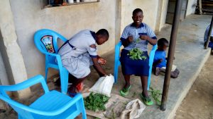 The Water Project:  Students Helping Prepare Meal