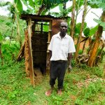 The Water Project: Wajumba Community, Wajumba Spring -  Evans At His Latrine