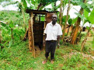 The Water Project:  Evans At His Latrine