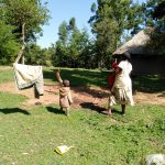 The Water Project: Sambuli Community, Nechesa Spring -  Mother And Son