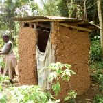 The Water Project: Musango Community, Emufutu Spring -  A Sample Latrine