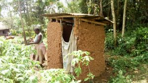 The Water Project:  A Sample Latrine