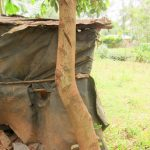 The Water Project: Bukhakunga Community, Ngovilo Spring -  Latrine Made Of Bags