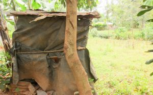 The Water Project:  Latrine Made Of Bags