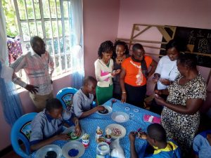The Water Project:  Students Learning To Bead