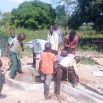 The Water Project: Karagalya Kawanga Community -  Water Flowing