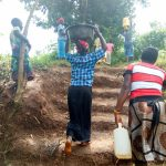 The Water Project: Mungakha Community, Nyanje Spring -  The Community Built Stairs Into The Hill