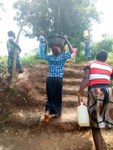 The Water Project:  The Community Built Stairs Into The Hill