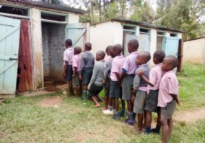 The Water Project:  Students Waiting For A Usable Latrine