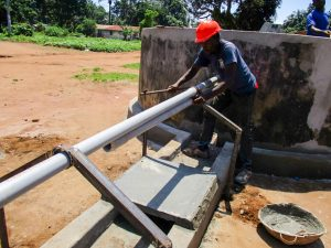 The Water Project:  Construction Special Well Pad