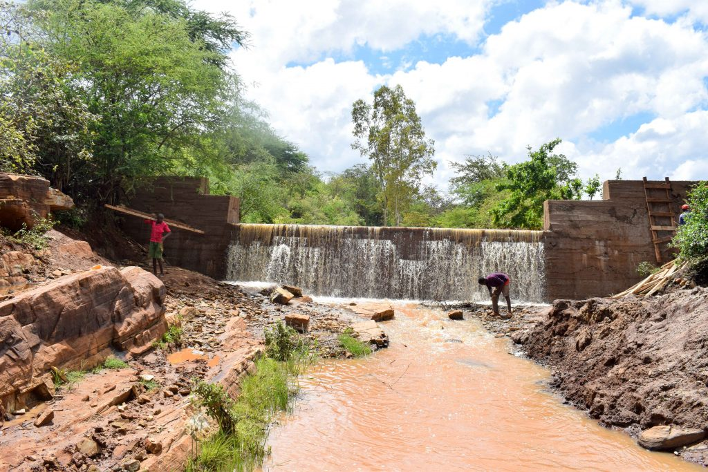 The Water Project : 19-kenya18194-finished-sand-dam