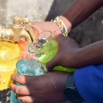 The Water Project: Ndaluni Primary School -  Water Flowing