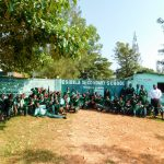 The Water Project: Esibila Secondary School -  Students At School Entrance