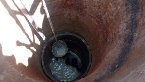 The Water Project:  Bailing And Cleaning The Well Out