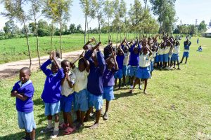 The Water Project:  Boys Lined Up To Wash Their Hands