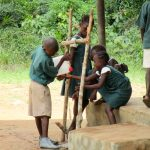 The Water Project: DEC Komrabai Primary School -  Handwashing Station