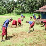 The Water Project: Pewullay Primary School -  Cleaning Activity