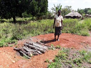 The Water Project:  Nyamungu Grace Has Been Sharing A Latrine With Her Neighbor But Has Decided To Build One Of Her Own