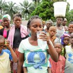 The Water Project: Komrabai Community, 35 Port Loko Road -  Clean Water Flowing