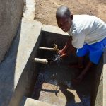 The Water Project: Ikoli Primary School -  Flowing Water