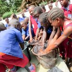 The Water Project: Pewullay Primary School -  Clean Water Flowing