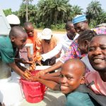 The Water Project: DEC Komrabai Primary School -  Flowing Water