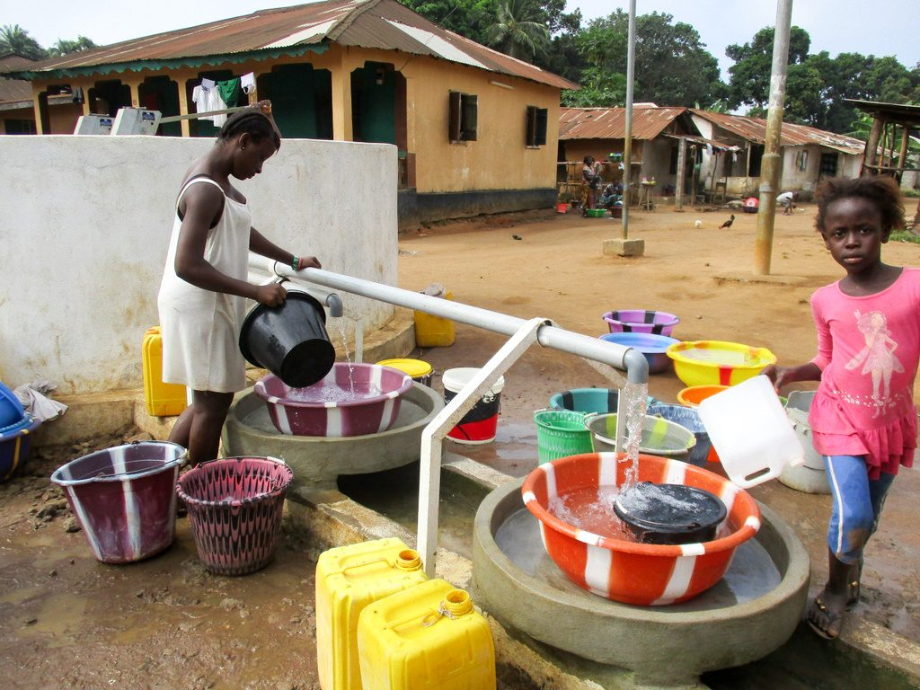 The Water Project : 39-sierraleone18283-clean-water-flowing