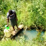 The Water Project: Mukhuyu Community, Kwawanzala Spring -  Fetching Water