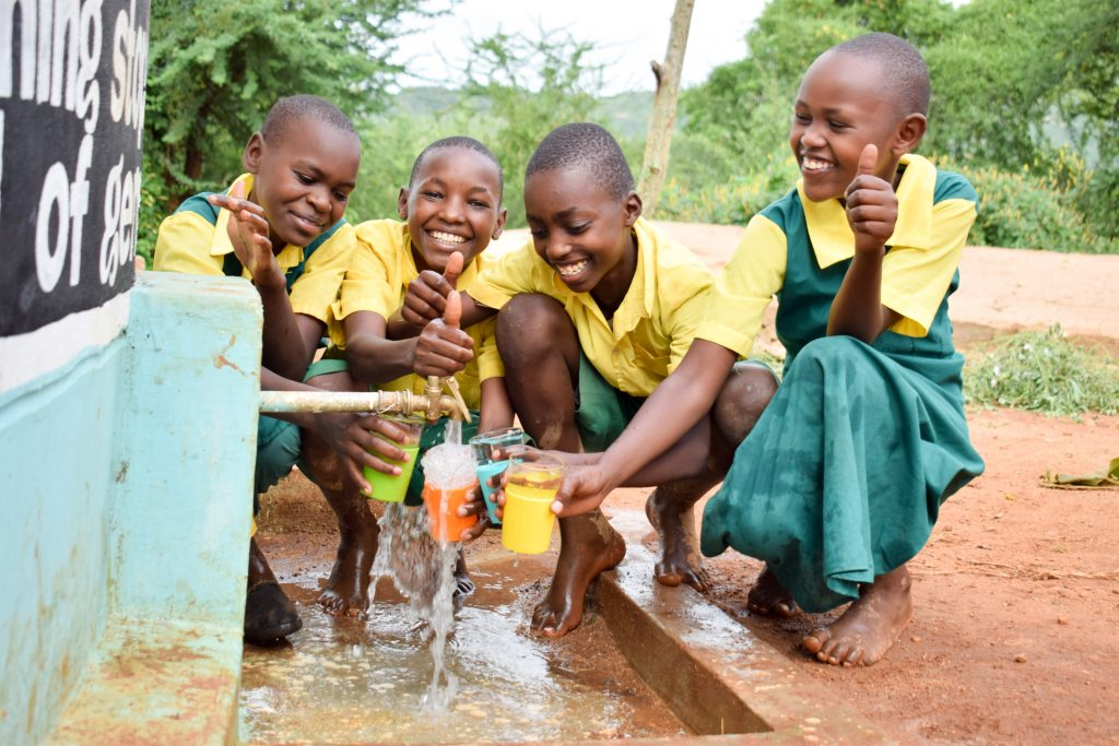 The Water Project : 5-kenya18232-water-flowing