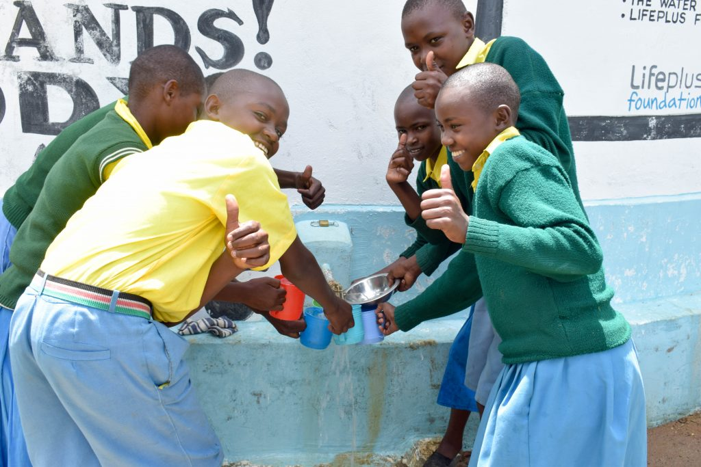 The Water Project : 5-kenya18234-water-flowing