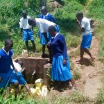 The Water Project: Lwakhupa Primary School -  Fetching Water
