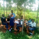 The Water Project: Namasanda Secondary School -  Class Under The Trees