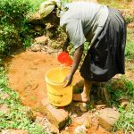 The Water Project: Wajumba Community, Wajumba Spring -  Nelly Fetching Water