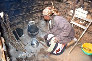 The Water Project:  Mwikali Working In Kitchen