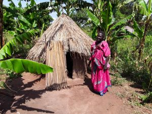 The Water Project:  Kandole Irene Outside Her Latrine