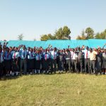 The Water Project: Chebunaywa Secondary School -  Students Outside Classrooms