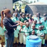 The Water Project: Eshikufu Primary School -  Trainer Lynnah During Handwashing Session