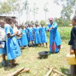 The Water Project: Ikoli Primary School -  Mwalimu Abash Participating During Handwashing Session
