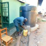 The Water Project: Esibila Secondary School -  Plastic Tank At Kitchen