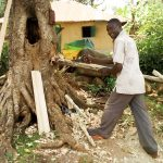The Water Project: Musango Community, Mwichinga Spring -  Evans Doing Carpentry