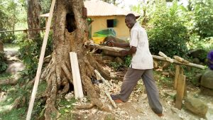 The Water Project:  Evans Doing Carpentry