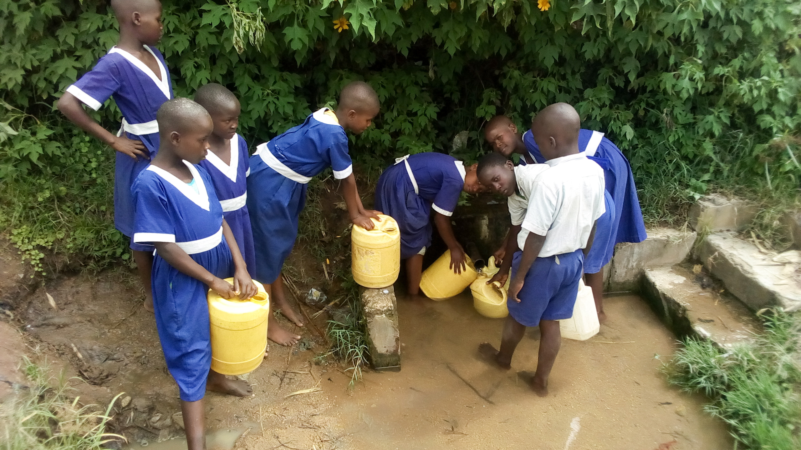 The Water Project : 8-kenya19013-fetching-water