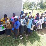 The Water Project: Namakoye Primary School -  Early Education Students Line Up For Lunch