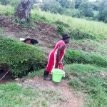 The Water Project: Malava Community, Ndevera Spring -  Fetching Water