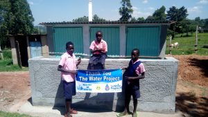 The Water Project:  Boys At The New Latrine Block